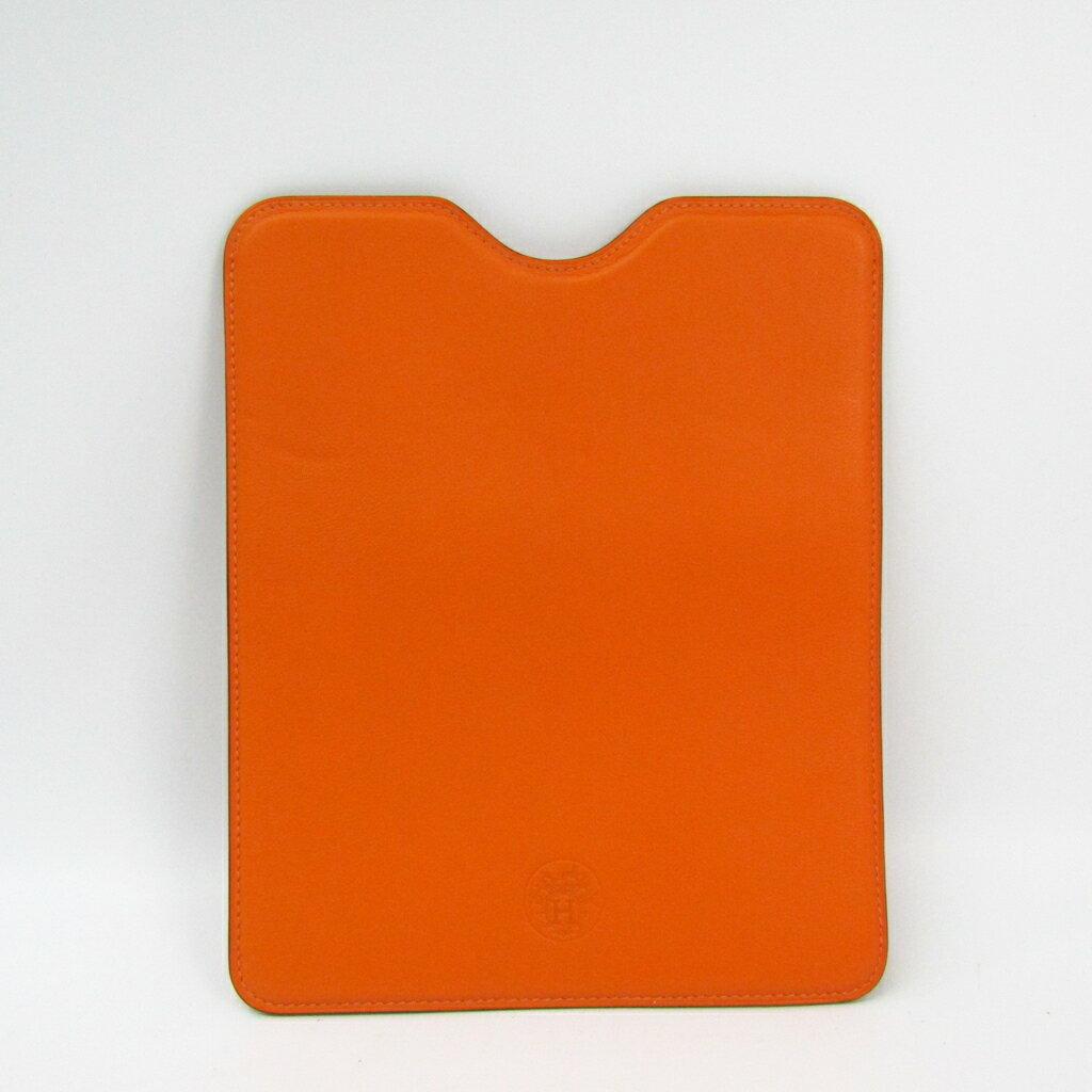 エルメス(Hermes) ケース iPad 対応 オレンジ 【中古】