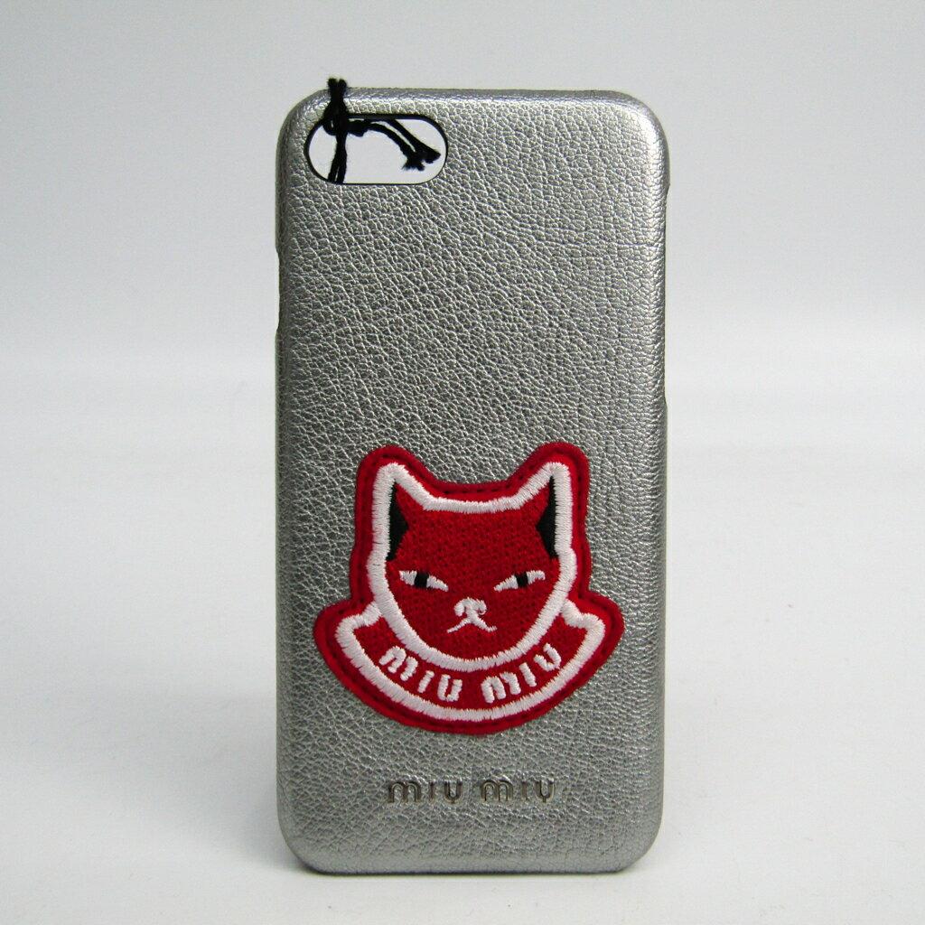 ミュウ・ミュウ(Miu Miu) Madras カバー iPhone 7 対応 シルバー,レッド 5ZH035 【中古】