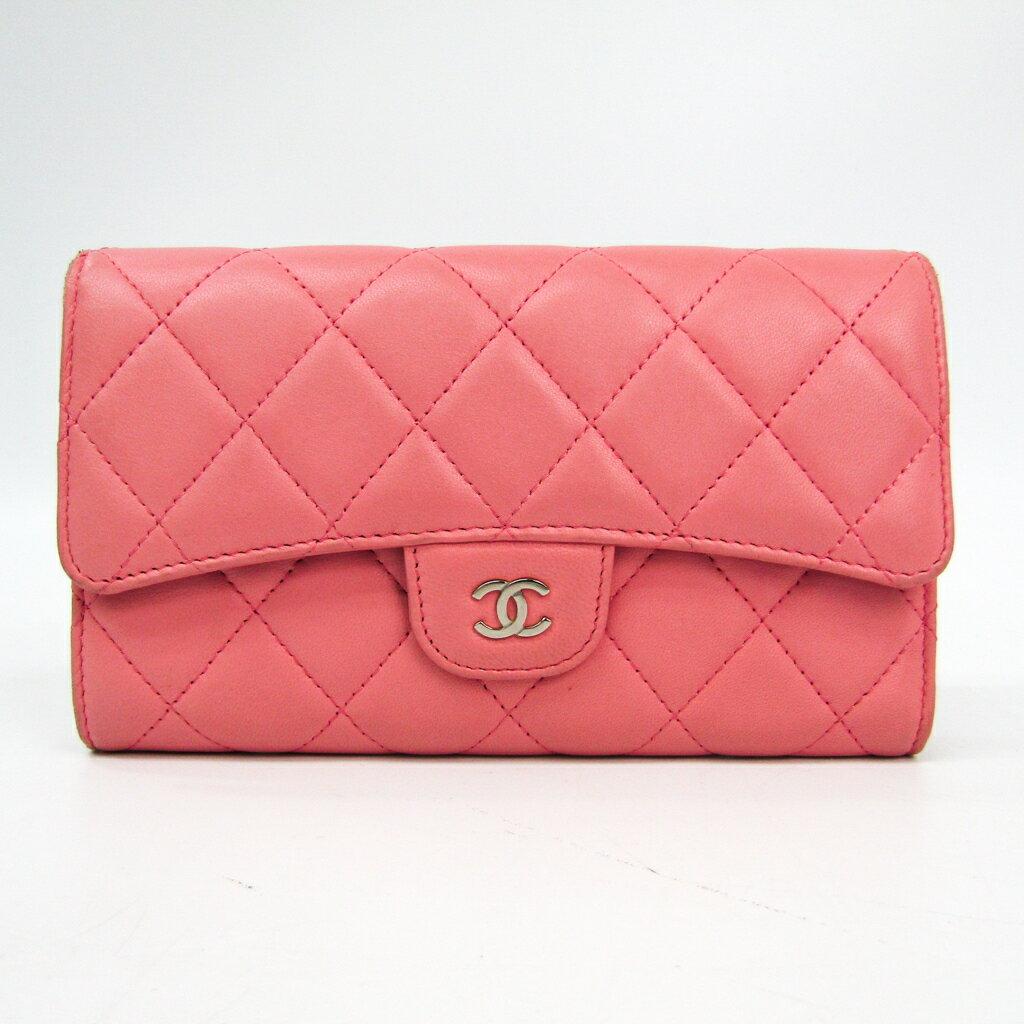 シャネル(Chanel) マトラッセ A31506 レディース ラムスキン 長財布(三つ折り) ピンク 【中古】