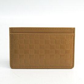 ルイ・ヴィトン(Louis Vuitton) ポルトカルトサーンプル ダミエファセット Collection Printemps Ete 2013 カードケース キャメル 【中古】