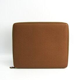 エルメス(Hermes) タブレット スタンド機能付きケース ブラウン e-ZIP iPadケース 【中古】