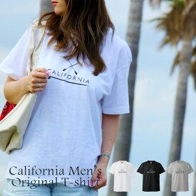 【送料無料】Tシャツ トップス カットソー Mサイズ Lサイズ XL 3L 4L レディース カリフォルニア サーフ系 海 メンズ 西海岸風 ビーチ / カリフォルニアオリジナルTシャツ