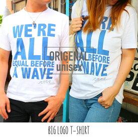 【送料無料】Tシャツ トップス カットソー リンクコーデ Mサイズ Lサイズ XL 3L 4L レディース メンズ ユニセックス カリフォルニア サーフ系 海 西海岸風 ビーチ / ビッグロゴTシャツ