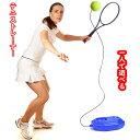 【送料無料】 テニス練習 ボール付き 1人練習 テニストレーナー Fbsport プレゼント ストレス解消 練習器具 ブルー ゴ…