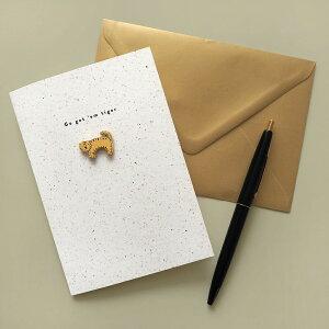 OLD ENGLISH ENAMEL PIN グリーティングカード|グリーティングカード メッセージ ギフト 誕生日 プレゼント
