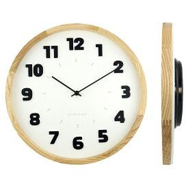 バウハウス『Alfarn』復刻フォント・ウォールクロック / 壁掛け時計(ホワイト)
