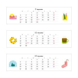 2019年卓上カレンダー『BREAKTIME/ブレイクタイム』【MATOKA/マトカ】【メール便送料無料】