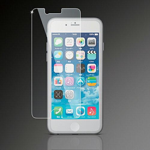 エレコム iPhone6s iPhone6 液晶保護フィルム ガラスコートフイルム PM-A14FLGL