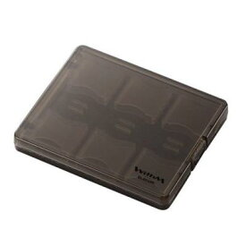 エレコム メモリーカードケース SD対応 12枚収納 クリアブラック CMC-06SD