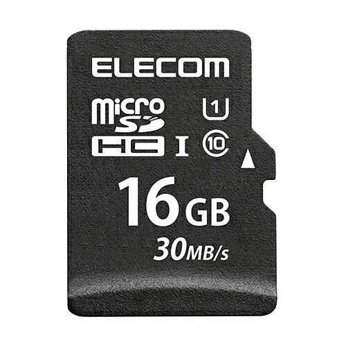 エレコム microSDカード microSDHC データ復旧サービス付 UHS-I 16GB MF-MS016GU11LRA