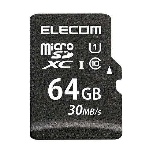 エレコム microSDカード microSDXC データ復旧サービス付 UHS-I 64GB MF-MS064GU11LRA