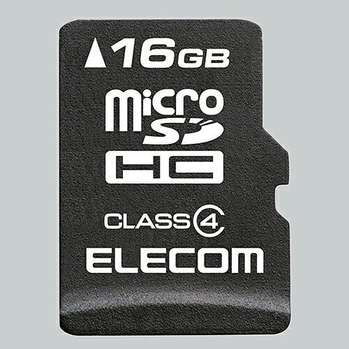 エレコム 安心のデータ復旧サービス付microSDHCカード/Class4/16GB MF-MSD016GC4R