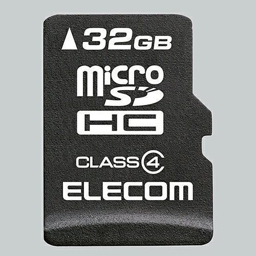 エレコム 安心のデータ復旧サービス付microSDHCカード/Class4/32GB MF-MSD032GC4R