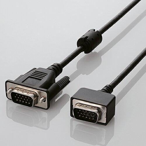 エレコム VGAディスプレイケーブル D-Sub15ピン(ミニ)ケーブル 小型コネクタ 1.0m ブラック CAC-C10BK