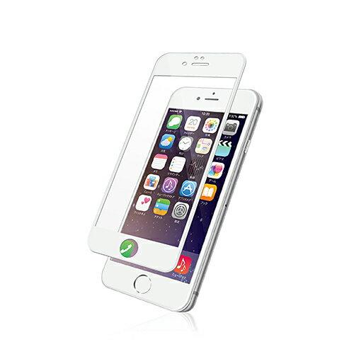 エレコム iPhone6s iPhone6 液晶保護フィルム 端まで保護する3D構造/防指紋/反射防止/ホワイト PM-A15FLFRBWH