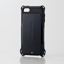 エレコム iPod touch ケース 衝撃吸収ケース ZEROSHOCK ブラック 第6世代対応 AVA-T17ZEROBK