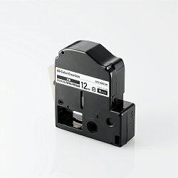 カラークリエーションテプラPRO互換テープカートリッジ[12mm][黒インク]ホワイト:CTC-KSS12K[カラークリエーション]