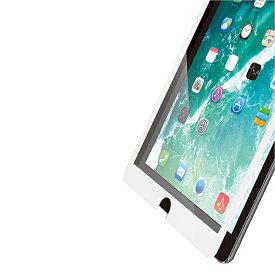 エレコム iPad (第6世代) 液晶保護ガラスフィルム PETフレーム付 0.23mm ホワイト TB-A18RFLGFWH