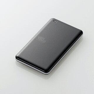 エレコム外付けポータブルSSD耐衝撃USB3.1Gen1対応高速超軽量480GBブラックESD-ED0480GBK