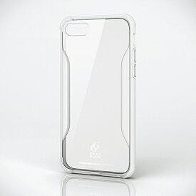 エレコム iPhone 8用 ハイブリッド ケース ガラス 耐衝撃設計 スマホ スマートフォン カバー クリア PM-A17MHVCG2CR