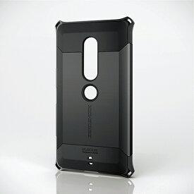 08446b4e9c エレコム Xperia XZ2 Premium 耐衝撃ケース ZEROSHOCK ブラック スマホケース PM-XZ2PZEROBK