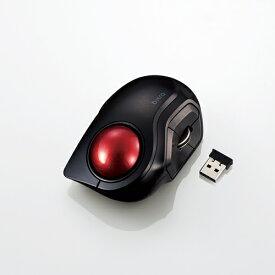 エレコム ワイヤレスモバイルトラックボール 人差し指操作タイプ タイプC 小型 5ボタン 静音 静か 無線 ブラック M-MT2DRSBK