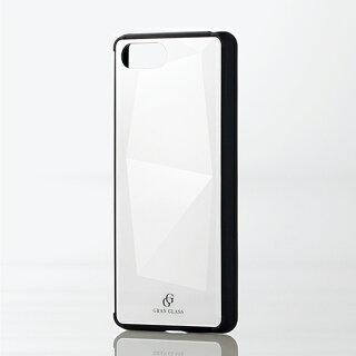 XperiaAce(SO-02L)用ハイブリッドケースガラスダイヤモンドスマホエクスペリアエースカバーホワイト