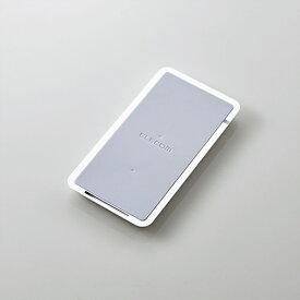 エレコム Qi(チー)規格対応 ワイヤレス充電器 5W 10W スタンド 卓上 ワイヤレス 充電器 ホワイト W-QS02XWH