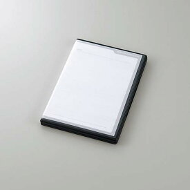 エレコム SDカードケース トールケースタイプ SD36枚収納 インデックスカード インデックスジャケット ナンバリングシール ブラック CMC-ECSDCDC01BK