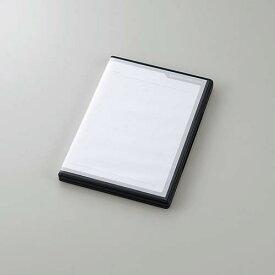 エレコム SDカードケース トールケースタイプ SD36枚+microSD36枚収納 インデックスカード インデックスジャケット ナンバリングシール ブラック CMC-ECSDCDC02BK