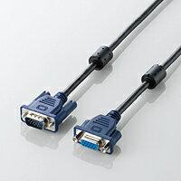 エレコム D-Sub15ピン(ミニ)対応ディスプレイ延長ケーブル1.0m CAC-E10BK