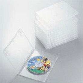 エレコム ディスクケース DVD CD 対応 DVDケース CDケース 1枚収納 10枚セット クリア CCD-DVD03CR