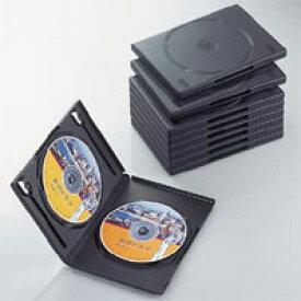 エレコム ディスクケース DVD CD 対応 DVDケース CDケース 2枚収納 10枚セット ブラック CCD-DVD06BK