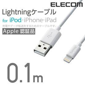 ロジテック Lightningコネクタ対応ケーブルLightningコネクタ-USB Aコネクタ 0.1m LHC-UALO01WH