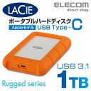 ラシー LaCie 耐衝撃HDD ハードディスク Rugged USB-C対応 USB3.1Gen1対応 オレンジ 1TB 2EUAP8