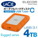 ラシー LaCie 耐衝撃HDD ハードディスク Rugged USB-C対応 USB3.1Gen1対応 オレンジ 4TB 2EUAPA