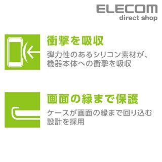 GalaxyFeel2用シリコンケースブラックスマートフォンスマホAndroid透明