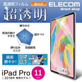 iPad Pro 11インチ 2018年モデル フィルム 超透明 ファインティアラ(耐擦傷) 高光沢 液晶保護フイルム アイパッド アイパット TB-A18MFLFIGHD