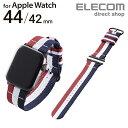 エレコム Apple Watch 44mm 42mm 用 ファブリックバンド 腕時計交換 時計ベルト SE Series 6 5 4 [44mm] Series 3 2 1…