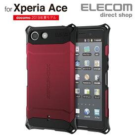 エレコム Xperia Ace (SO-02L) 用 ZEROSHOCK スタンダード スマホ エクスペリア エース カバー ケース 衝撃吸収 レッド PD-XACEZERORD