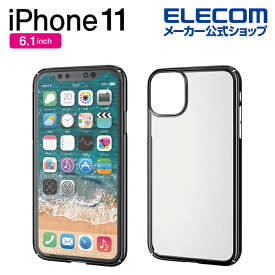 エレコム iPhone 11 用 ハードケース 極み サイドメッキ ケース カバー iphone6.1 iPhone11 アイフォン 11 新型 iPhone2019 6.1インチ 6.1 スマホケース シンプル メタリック ポリカーボネート シェル ブラック PM-A19CPVKMBK