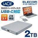 ラシー LaCie Mobile Drive SpaceGray 2TB HDD 外付けHDD ハードディスク ポータブル 外付け タイプC Type-C 対応 ス…