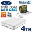 ラシー LaCie Mobile Drive HDD Type-C タイプC ラシー モバイル ハードディスク 4TB ポータブル アルミボディ USB-C対応 Apple Mac アップル マック STHG4000400
