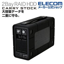 エレコム 外付けHDD 6TB 2Bay RAID ELD-2B060UBK
