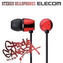 エレコム キレの良い低音を実現 ステレオカナルヘッドホン イヤホン Groove Gangsta aka皇帝 レッド EHP-CN210ARD