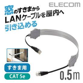 エレコム LANケーブル サッシ窓のすきまから配線できるLANケーブル (屋外対応LANケーブル) LD-VAPF/SV05