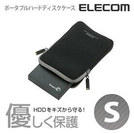 エレコム ポータブルHDDケース Sサイズ ネオプレン ブラック HDC-NC002BK