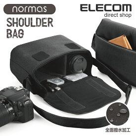 エレコム カメラバッグ normas ノーマス ミラーレス 一眼レフ カメラ 用 カメラ ショルダー バッグ 全面撥水加工 ブラック DGB-S031BK