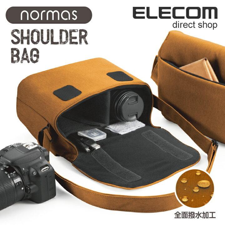 エレコム カメラバッグ normas ノーマス 一眼レフ/ミラーレスカメラ用 ショルダーバッグ 全面撥水加工 オレンジ DGB-S031DR