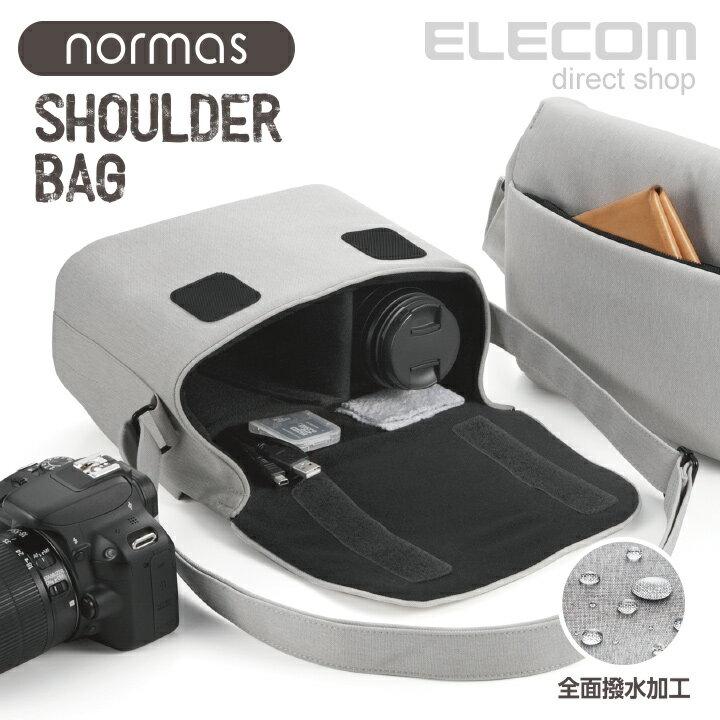 エレコム カメラバッグ normas ノーマス 一眼レフ/ミラーレスカメラ用 ショルダーバッグ 全面撥水加工 グレー DGB-S031GY